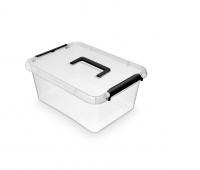 Pojemnik do przechowywania ORPLAST Simple box, 12,5l, z rączką, transparentny, Pudła, Wyposażenie biura