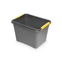 Pojemnik do przechowywania ORPLAST, Solidstore box, 19l, szary, Pudła, Wyposażenie biura