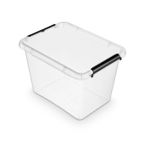 Pojemnik do przechowywania ORPLAST Simple box, 19l, transparentny, Pudła, Wyposażenie biura
