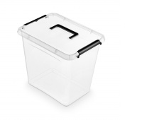 Pojemnik do przechowywania ORPLAST Simple box, 30l, z rączką, transparentny, Pudła, Wyposażenie biura