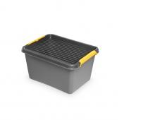 Pojemnik do przechowywania ORPLAST, Solidstore box, 15,5l, szary, Pudła, Wyposażenie biura