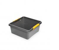 Pojemnik do przechowywania ORPLAST, Solidstore box, 18l, szary, Pudła, Wyposażenie biura