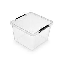 Pojemnik do przechowywania ORPLAST Simple box, 32l, transparentny, Pudła, Wyposażenie biura