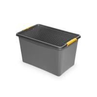 Pojemnik do przechowywania ORPLAST, Solidstore box, 60l, szary, Pudła, Wyposażenie biura