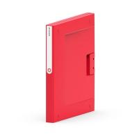Segregator NEW BINDER, plastikowy, A4/25 mm czerwony, Segregatory ringowe, Archiwizacja dokumentów