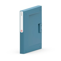 Segregator NEW BINDER, plastikowy, A4/35mm, szaro-niebieski, Segregatory ringowe, Archiwizacja dokumentów