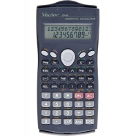 Kalkulator naukowy VECTOR KAV CS-103, 279 funkcji, 80x170mm, czarny