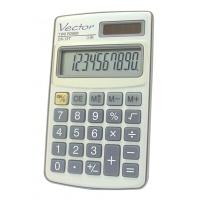 Kalkulator kieszonkowy VECTOR KAV DK-137, 10-cyfrowy, 61x102mm, metalowy