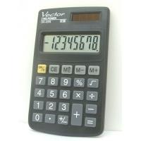 Kalkulator kieszonkowy VECTOR KAV DK-055 BLK, 8-cyfrowy, 61x102mm,czarny
