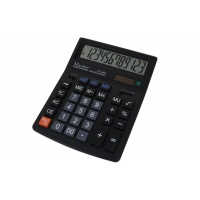Kalkulator biurowy VECTOR KAV VC-444, 12-cyfrowy154x200mm,czarny