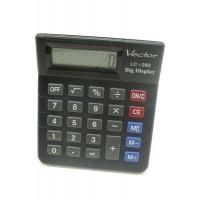 Kalkulator biurowy VECTOR KAV LC-280, 8-cyfrowy, 103x121mm, czarny