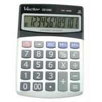 Kalkulator biurowy VECTOR KAV CD-2462, 12-cyfrowy, 115x155mm, szary