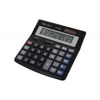 Kalkulator biurowy VECTOR KAV CD-2455 BLK, 12-cyfrowy, 160x155mm, czarny