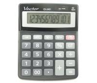 Kalkulator biurowy VECTOR KAV CD-2401 BLK, 12-cyfrowy, 103x130mm, czarny