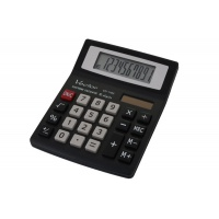 Kalkulator biurowy VECTOR KAV CD-1182 BLK, 10-cyfrowy, 88x115mm, czarny