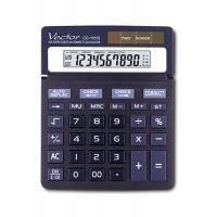 Kalkulator biurowy VECTOR KAV CD-1181II, 10-cyfrowy, 120x151mm, czarny