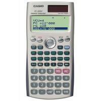 Kalkulator finansowy CASIO FC-200V-S, 4-liniowy wyświetlacz, 80x161mm, szary