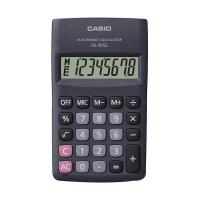 Kalkulator kieszonkowy CASIO HL-815L-BK-S, 8-cyfrowy, 69,5x118mm, czarny