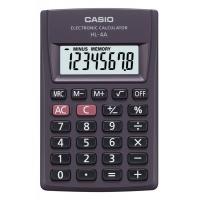 Kalkulator kieszonkowy CASIO HL-4A-S, 8-cyfrowy, 56x87mm, czarny
