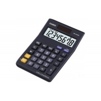 Kalkulator biurowy CASIO MS-8VERII-S, 8-cyfrowy, 103x147mm, czarny