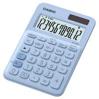Kalkulator biurowy CASIO MS-20UC-LB-S, 12-cyfrowy, 105x149,5mm, jasnoniebieski