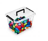Pojemnik do przechowywania ORPLAST Simple Box, 19l, z rączką, transparentny, Pudła, Wyposażenie biura