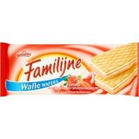 Wafle Familijne JUTRZENKA, 180gr, truskawkowo-śmietankowe, Wafle, Artykuły spożywcze