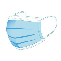 Maseczka higieniczna, jednorazowa, 3-warstwowa, bawełniana, 50szt, Maski, Ochrona indywidualna