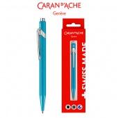 Długopis CARAN D'ACHE 849 Gift Box Metal-X Line Turquoise, turkusowy, Długopisy, Artykuły do pisania i korygowania