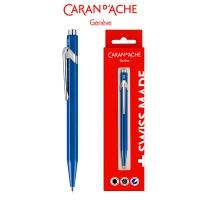 Długopis CARAN D'ACHE 849 Gift Box Metal-X Line, niebieski, Długopisy, Artykuły do pisania i korygowania