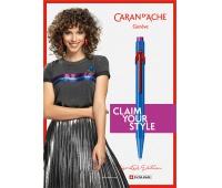 Długopis CARAN D'ACHE 849 Claim Your Style Ed2 Cobalt Blue, M, w pudełku, ciemnoniebieski, Długopisy, Artykuły do pisania i korygowania