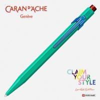 Długopis CARAN D'ACHE 849 Claim Your Style Ed2 Veronese Green, M, w pudełku, zielony, Długopisy, Artykuły do pisania i korygowania
