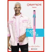 Długopis CARAN D'ACHE 849 Claim Your Style Ed2 Hibiscus Pink, M, w pudełku, różowy, Długopisy, Artykuły do pisania i korygowania