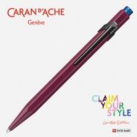 Długopis CARAN D'ACHE 849 Claim Your Style Ed2 Burgundy, M, w pudełku, bordowy, Długopisy, Artykuły do pisania i korygowania