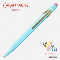 Długopis CARAN D'ACHE 849 Claim Your Style Ed2 Bluish Pale, M, w pudełku, jasnoniebieski, Długopisy, Artykuły do pisania i korygowania