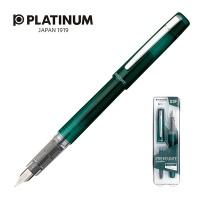 Pióro wieczne Platinum Prefounte Dark Emerald, F, w plastikowym opakowaniu, na blistrze, zielone, Pióra, Artykuły do pisania i korygowania