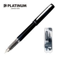 Pióro wieczne Platinum Prefounte Graphite Blue, F, w plastikowym opakowaniu, na blistrze, granatowe, Pióra, Artykuły do pisania i korygowania