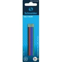 Wkład do długopisów SCHNEIDER TAKE 4, M, 5szt., blister, mix kolorów, Długopisy, Artykuły do pisania i korygowania