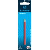 Wkład do długopisów SCHNEIDER TAKE 4, M, 2szt., blister, czerwony, Długopisy, Artykuły do pisania i korygowania