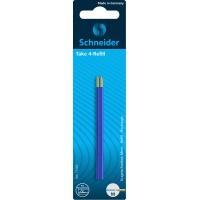 Wkład do długopisów SCHNEIDER TAKE 4, M, 2szt., blister, niebieski, Długopisy, Artykuły do pisania i korygowania