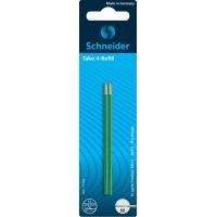 Wkład do długopisów SCHNEIDER TAKE 4, M, 2szt., blister, zielony, Długopisy, Artykuły do pisania i korygowania