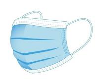 Maska higieniczna, FACEMASK, jednorazowa, 3-warstwowa, WG EN-149:2001 A1:2009, niebieska, Maski, Ochrona indywidualna