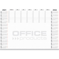 Podkładka na biurko OFFICE PRODUCTS, planer 2021, biuwar 594x420mm A2 ,52k., biała, Podkładki na biurko, Wyposażenie biura