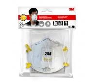 Półmaska filtrująca z zaworem 3M Cool Flow, FFP1 (8812), 2szt, biała, Maski, Ochrona indywidualna, Antywirus