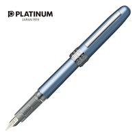 Pióro wieczne Platinum Plaisir Frosty Blue, F, niebieskie metaliczne, Pióra, Artykuły do pisania i korygowania
