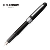 Pióro wieczne Platinum Plaisir Black Mist, F, czarne matowe, Pióra, Artykuły do pisania i korygowania