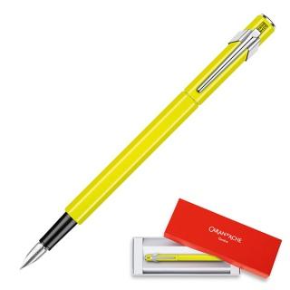 Pióro wieczne CARAN D'ACHE 849 Fluo Line, M, żółte, Pióra, Artykuły do pisania i korygowania