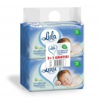 Chusteczki nawilżane LULA, z aloesem, 72 szt., białe, 3+1 Gratis, Środki czyszczące, Artykuły higieniczne i dozowniki
