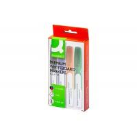 Marker do tablic Q-CONNECT Premium, gum. rękojeść, okrągły, 2-3mm (linia), 4szt., mix kolorów / KF26113, Markery, Artykuły do pisania i korygowania