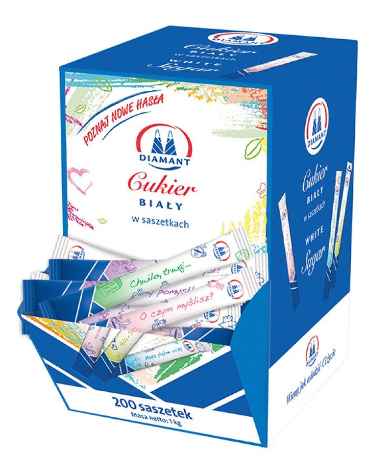 Cukier biały DIAMANT, w saszetkach, 200 x 5 g, Cukier, Artykuły spożywcze